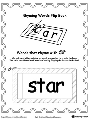 Printable Rhyming Words Flip Book AR | MyTeachingStation.com