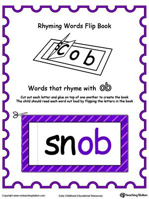 Kindergarten Rhyming Printable Worksheets Myteachingstation
