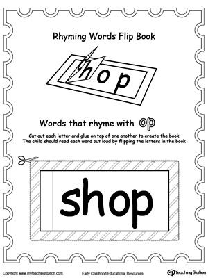 Printable Rhyming Words Flip Book OP | MyTeachingStation.com