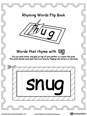 Printable Rhyming Words Flip Book UG | MyTeachingStation.com