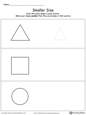 Draw a Smaller Size Shape