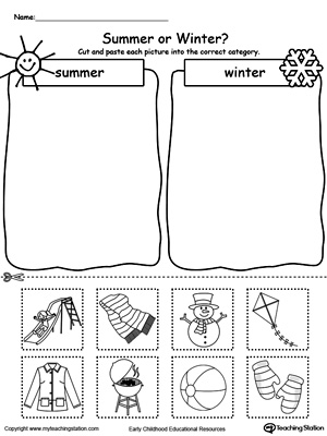 math worksheet : kindergarten sorting and categorizing printable worksheets  : Seasons Worksheets Kindergarten