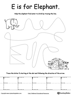 elephant template for preschool - all worksheets letter e worksheets printable