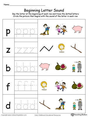 Match the beginning letter sounds and trace the words with this Trace and Match IG Word Family in Color worksheet.