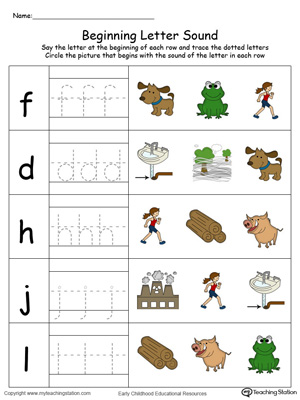 Match the beginning letter sounds and trace the words with this Trace and Match OG Word Family in Color worksheet.