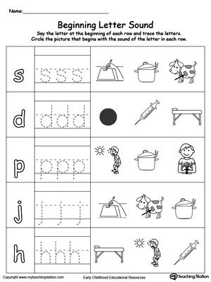 Trace and match the sounds and letters at the beginning of words with this Trace and Match OT Word Family worksheet.