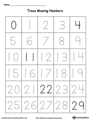 Kindergarten Writing Numbers Printable Worksheets ...
