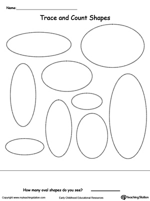 Trace And Count Oval Shapes Myteachingstation