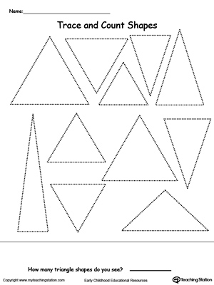 photo regarding Triangle Printable titled Hint and Depend Triangle Styles