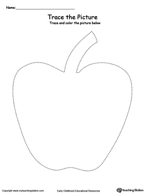Apple Picture Tracing Myteachingstation