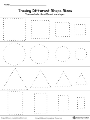 preschool shapes printable worksheets. Black Bedroom Furniture Sets. Home Design Ideas