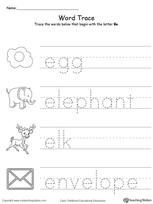 words that start with a for preschool beginning sound of the letter e myteachingstation 958