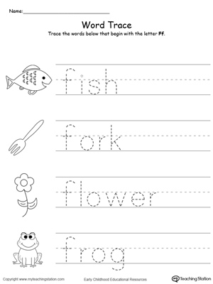 four letter f words letter f printable alphabet flash cards for preschoolers 21803