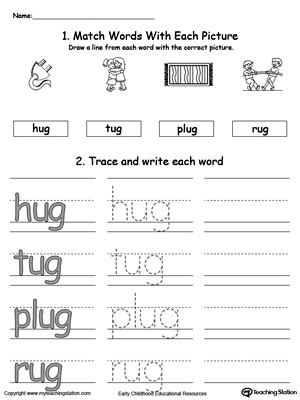 UG Word Family Connect, Trace and Write