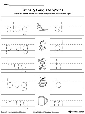 UG Word Family Trace and Write