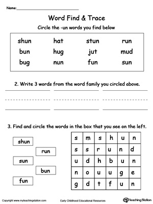 UN Word Family Find and Trace