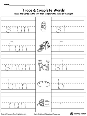UN Word Family Trace and Write