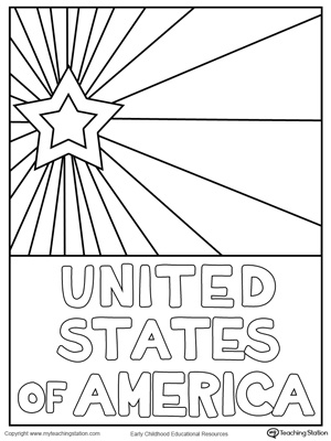 USA Starburst Coloring Page