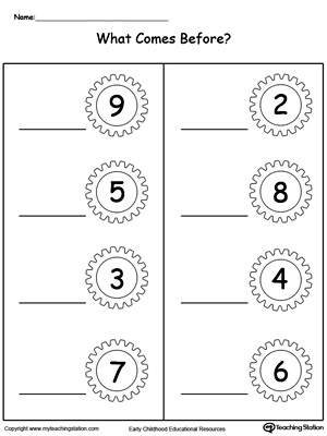 What Number Comes Before Part2 | MyTeachingStation.com