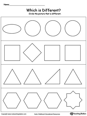Identify Which Shape is Different
