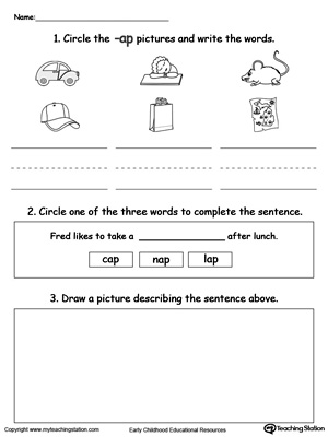 Word Recognition, Writing and Drawing: AP Words