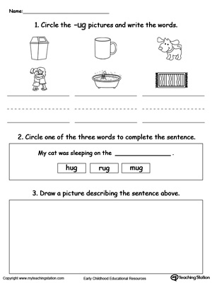 Early Childhood Word Families Worksheets | MyTeachingStation.com