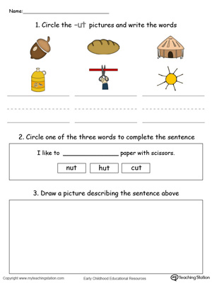 Word Recognition, Writing and Drawing: UT Words in Color