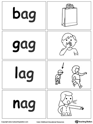 Word Sort Game: AG Words