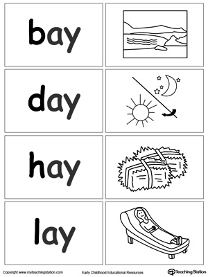 Word Sort Game: AY Words