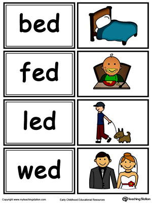 Word Sort Game:  ED Words in Color