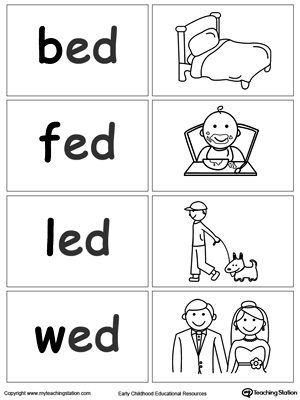 Word Sort Game: ED Words