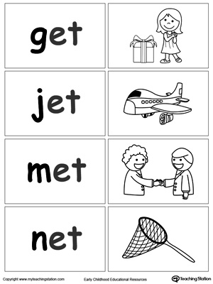 Word Sort Game: ET Words