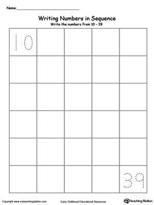 preschool writing numbers printable worksheets myteachingstation com