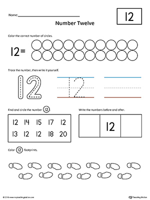 Number 12 Worksheets - Imatei
