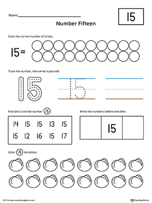 Early Childhood Writing Numbers Worksheets  MyteachingstationCom