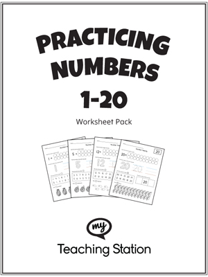 Counting Number worksheets : counting number worksheets 1-20 ...