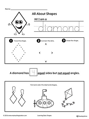 All About Diamond Shapes | MyTeachingStation.com