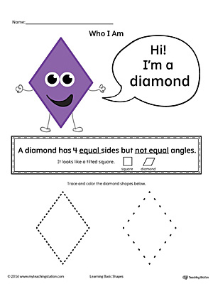 Learning Basic Geometric Shape: Diamond (Color)