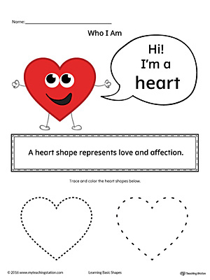 Learning Basic Geometric Shape: Heart (Color)