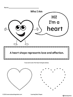 Learning Basic Geometric Shape: Heart