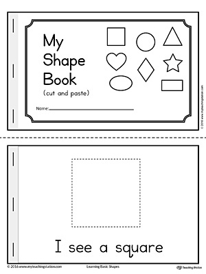This printable Basic Geometric Shapes Mini Book is fun and simple for children in preschool to practice recognizing the eight basic shapes.