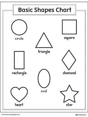 graphic about Printable Geometric Shapes known as Form Glimpse Printable Worksheet