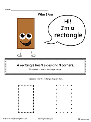 Learning Basic Geometric Shape: Rectangle (Color)