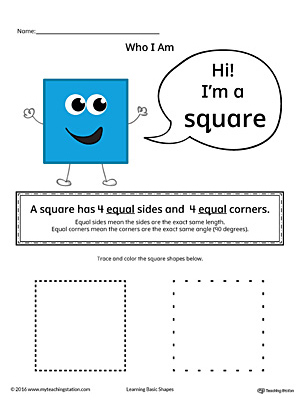 Learning Basic Geometric Shape: Square (Color)