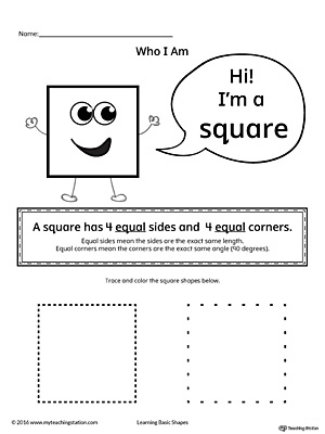 Learning Basic Geometric Shape: Square