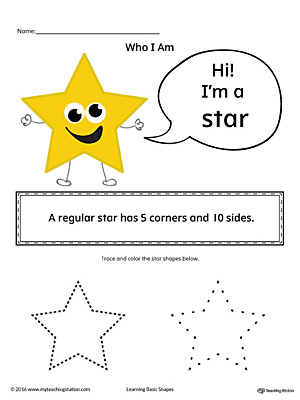 Learning Basic Geometric Shape: Star (Color)