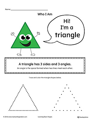 Learning Basic Geometric Shape: Triangle (Color)