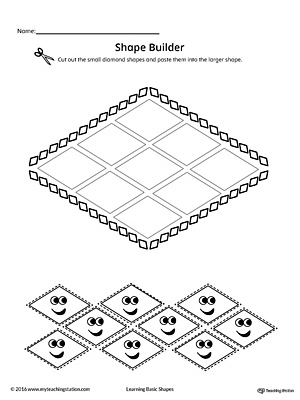 Geometric Shape Builder Worksheet: Diamond