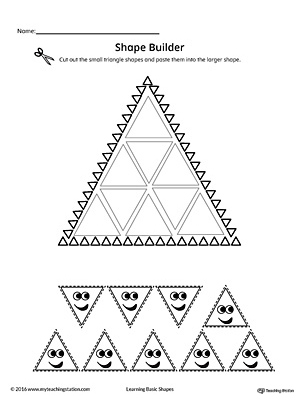 Geometric Shape Builder Worksheet: Triangle