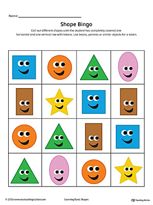 graphic about Square Printable called Geometric Form Bingo Printable Card: Sq., Circle